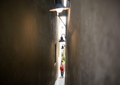 Old security path (currently so called narrowest street in Prague)