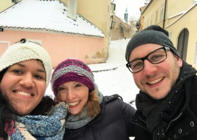 Winter in Prague with Sonja and Stefan, my clients from Germany