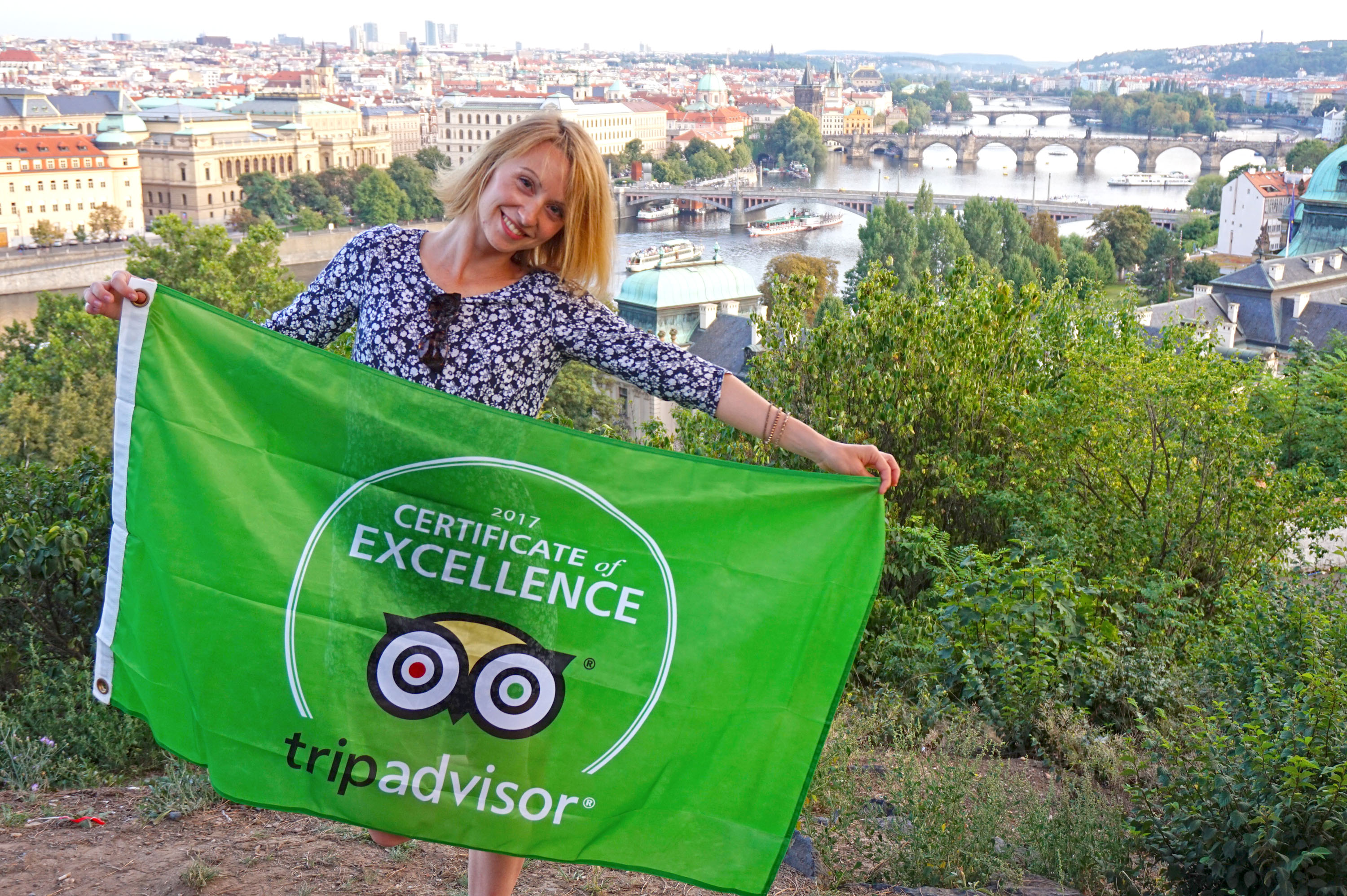 Certificate of Excellence from TripAdvisor for Prague Behind The Scenes. Happiness!