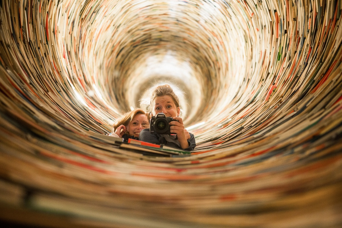 Book tunnel with no end is my tip how to enjoy some fun right downtown. For free!
