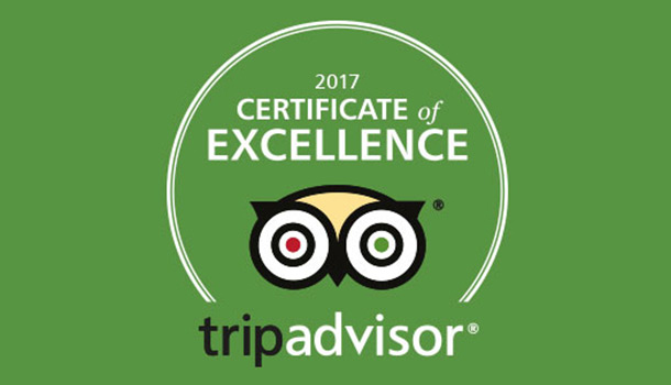 2017 Certificate of excellence for Prague Behind The Scenes Tours