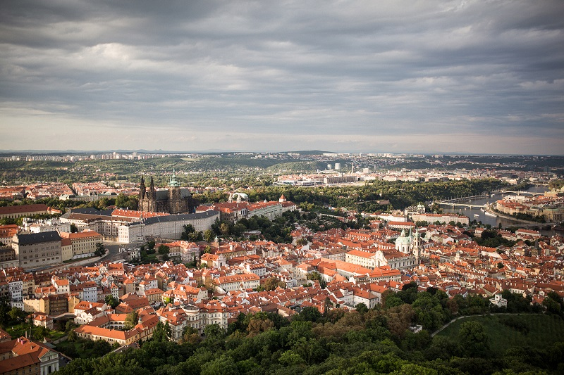 One of the best Prague views - from Petřín lookout tower