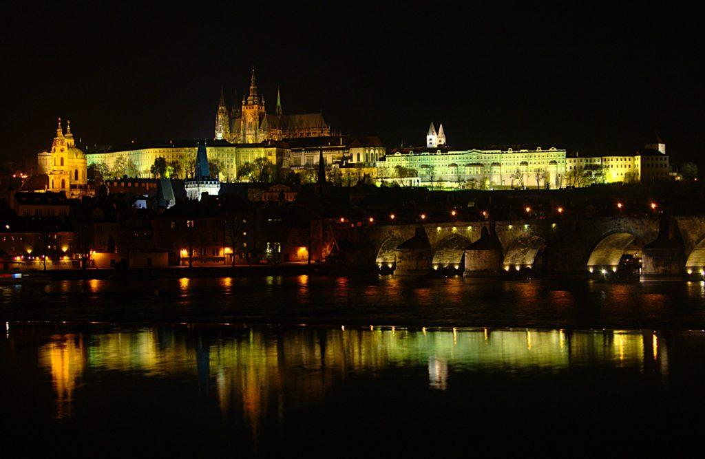 Visit Prague Castle at night , it is stunning! Photo: Wikimedia