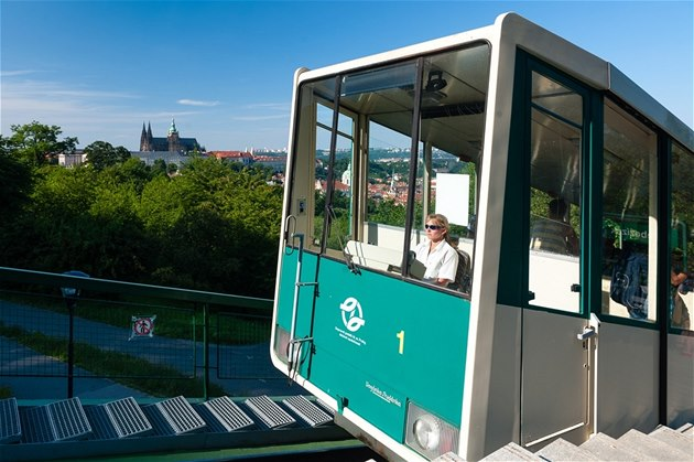 Funicular up to Petřín hill is part of Prague public transport. Try this fun experience!