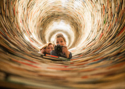 Book tunnel with no end