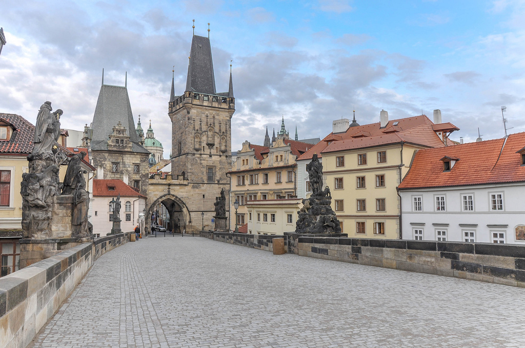 Acommodation in downtown. Charles bridge is cnnecting Old Town and Lesser Town.