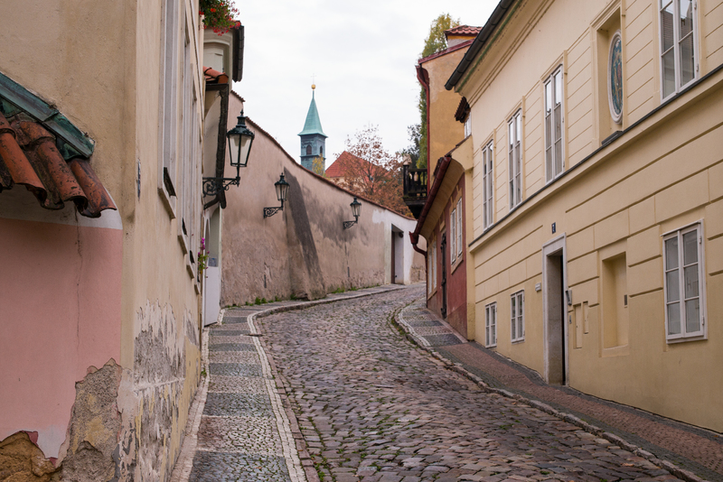 Empty street in picturesque Nový Svět area. Just 10 minutes from Prague Castle.