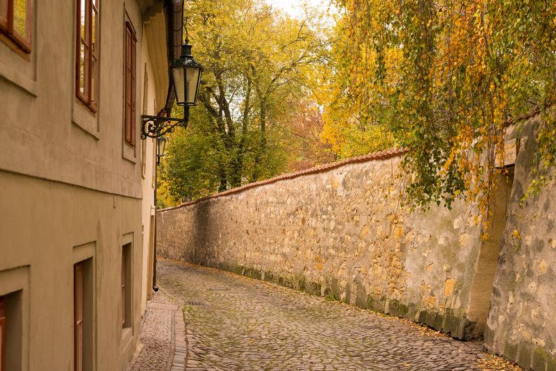 Picturesque back alley in Nový Svět district.