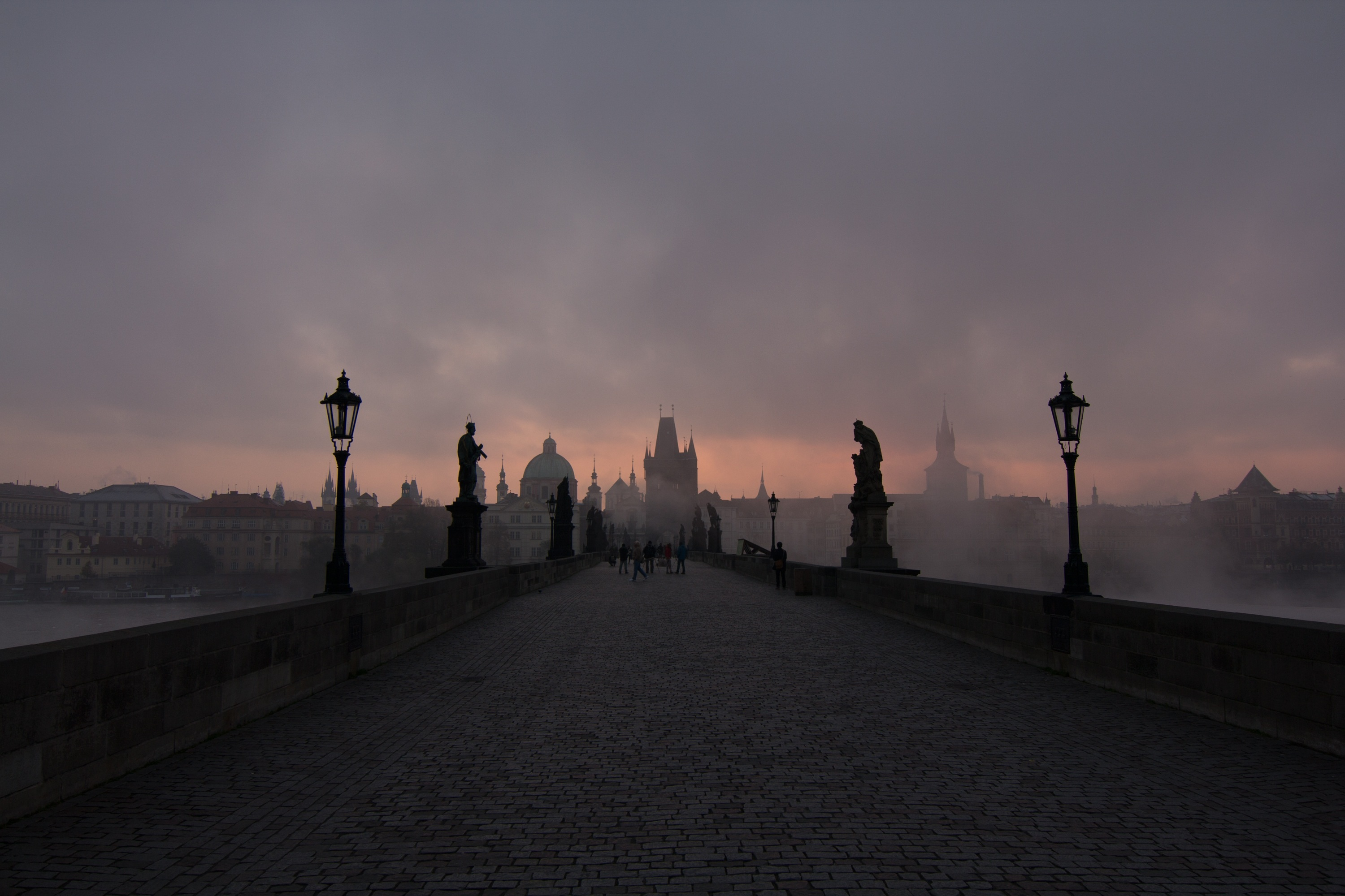 Charles bridge during low season can look like this. But usually only in the morning:)