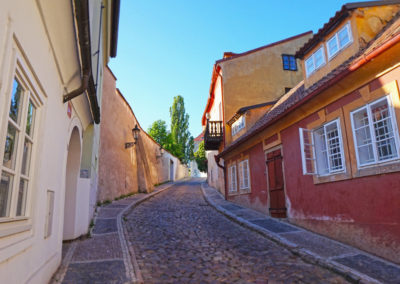 Empty streets of Nový Svět, Prague